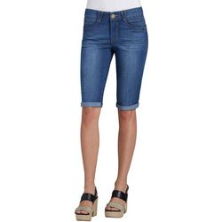Democracy Womens Roll Cuff Denim Bermuda Shorts