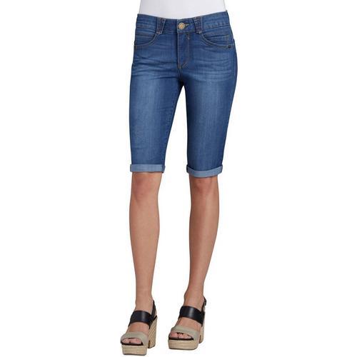 08e6b5a66bb Democracy Womens Roll Cuff Denim Bermuda Shorts