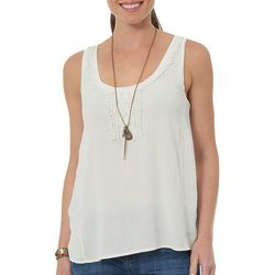 Democracy Womens Embroidered Sleeveless Top