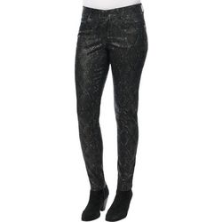 Democracy Womens Snakeskin Print Denim Pull On Jeggings