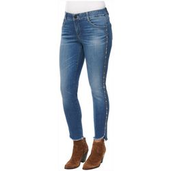 Democracy Womens Ab-solution Ankle Length Fray Hem Jeans