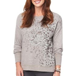 Democracy Womens Cheetah Face Sweater