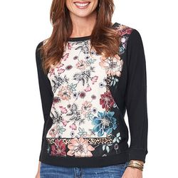 Democracy Womens Floral Animal Print Sweater