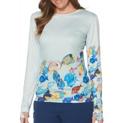 Guy Harvey Womens Tropical Fish Long Sleeve Top
