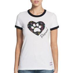 Skechers Womens Rescued Heart Ringer T-Shirt