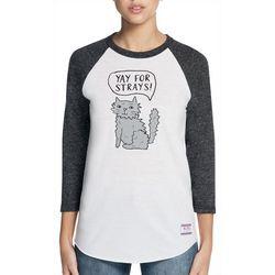 Skechers Womens Yay for Strays Baseball T-Shirt
