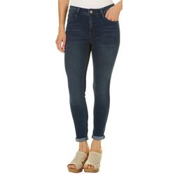 Angels Womens Signature Convertible Solid Skinny Jeans