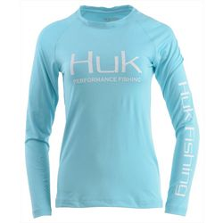 Huk Womens Pursuit Vented Long Sleeve Top