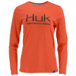 Huk Womens Icon Long Sleeve Top