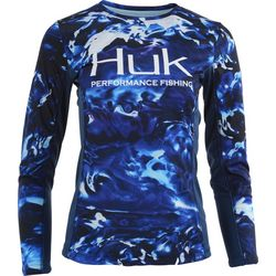 Huk Womens Camo Icon Long Sleeve Top