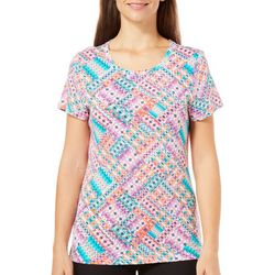 Bay Studio Womens Sydney Geometric Ikat Top
