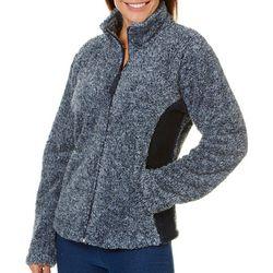 Jason Maxwell Womens Faux Fur Fleece Zip Up Jacket