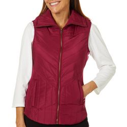 Jason Maxwell Womens Solid Quilted Vest