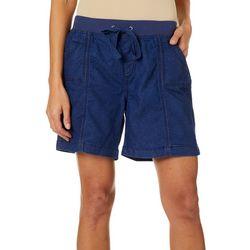 Jason Maxwell Womens Solid Chambray Shorts