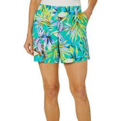 Fresh Womens Tropical Palm Print Shorts