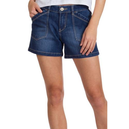 Shorts Cheap Price Faded Glory Blue Drawstring Waist Cuffed Leg Front/back Pockets Denim Shorts 22w Clothing, Shoes & Accessories