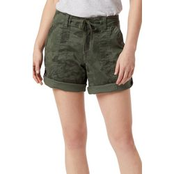 Supplies by Unionbay Womens Marty Camo Roll Cuff Shorts