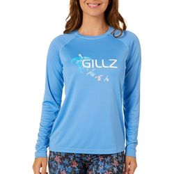 Gillz Womens UV Turtle Tribe Long Sleeve Top