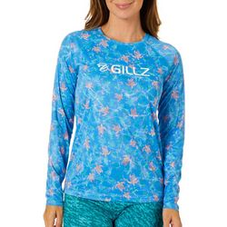 Gillz Womens UV Turtle Print Long Sleeve Top