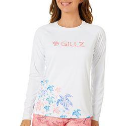 Gillz Womens UV Turtle Tribe Swirl Long Sleeve Top