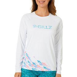Gillz Womens UV Here Fishy Fishy Long Sleeve Top