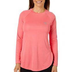 Gillz Womens Solid Seabreeze Long Sleeve Top