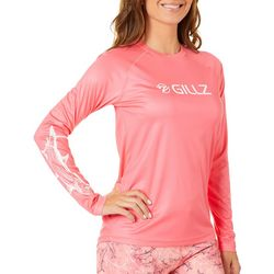 Gillz Womens UV Flying Tarpon Long Sleeve Top