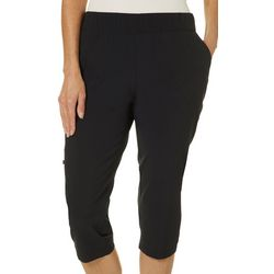 Coral Bay Golf Petite Solid Pull On Capris