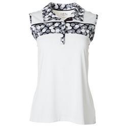 Petite Dot Sleeveless Polo Shirt