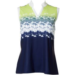 Coral Bay Golf Petite Martini Sleeveless Top
