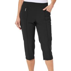 Coral Bay Golf Petite Ruched Hem Pull On Capris