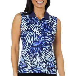 Coral Bay Golf Petite Sleeveless Butterfly Wing Polo Shirt