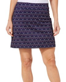 Coral Bay Golf Petite Golf Print Pull On Skort