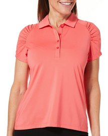Coral Bay Golf Womens Ruched Striped Polo Shirt