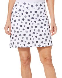 Coral Bay Golf Petite Polka Dot Pull On Skort