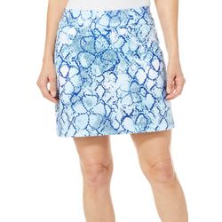 Coral Bay Golf Petite Snake Print Pull On Skort