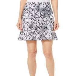 Coral Bay Golf Petite Snake Print Pull On Flounce Skort