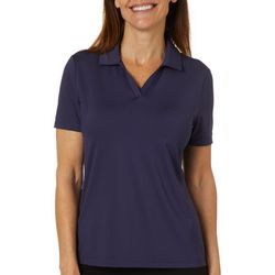 Coral Bay Golf Petite Solid Short Sleeve Polo