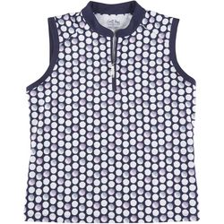 Coral Bay Golf Petite Golf Dots Polo Shirt