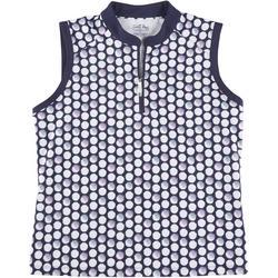Petite Golf Dots Polo Shirt
