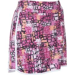 Coral Bay Golf Petite Abstract Print Player Skort