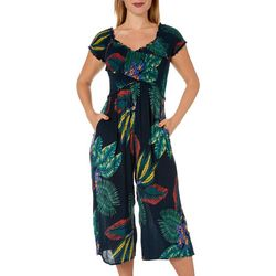 Patrons of Peace Juniors Tropical Smocked Jumpsuit