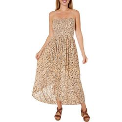 Patrons of Peace Juniors Smocked Floral Maxi Dress