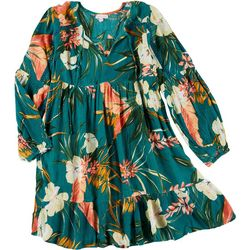 Juniors Tropical Flowy Dress