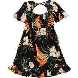 Juniors Tropical Smocked Dress