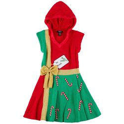 Hooked Up Juniors Embroidered Christmas Swing Dress