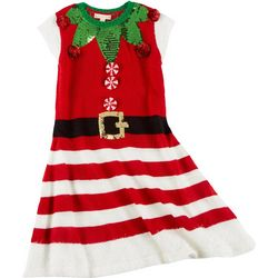 Fashion Ave Knits Juniors Christmas Graphic Swing Dress
