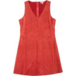 En Creme Juniors Vegan Suede Sleeveless Dress