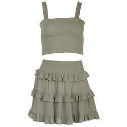 ILLA ILLA Juniors Sage Crop Top & Skirt  2-pc. Set