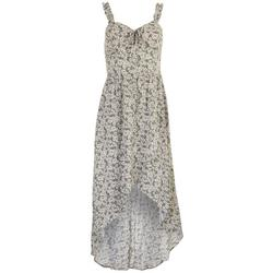 Juniors Floral Hi-Lo Ruffle Dress